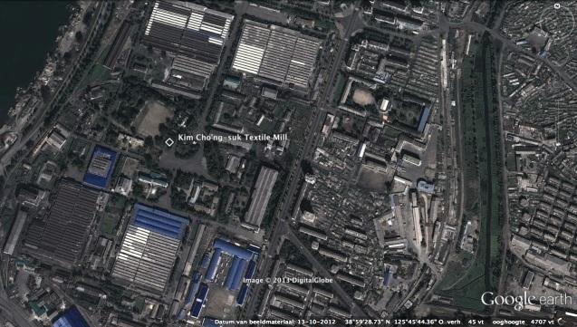 View of Kim Jong Suk Textile Mill in east Pyongyang (Photo: Google image)
