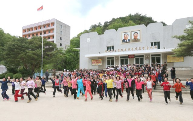 Campers at the Mt. Myohyang Children's Camp (Photo: Rodong Sinmun).