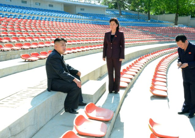 Kim Jong Un (1) tours Songdowon Youth Open Air Theater in Wo'nsan Kangwo'n Province (Photo: Rodong Sinmun).