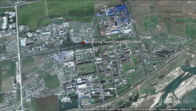 Namhu'ng Youth Chemical Complex in the city of Anju, South P'yo'ngan Province (Photo: Google image)