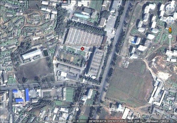 P'yo'ngso'ng Synthetic Leather Factory in P'yo'so'ng, South P'yo'ngan Province (Photo: Google image)
