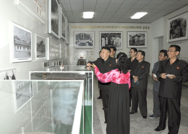 Kim Jong Un grins during a tour of the Ch'angso'ng Revolutionary Museum (Photo: Rodong Sinmun).