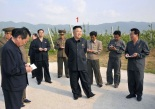 Kim Jong Un (1) tours the Kosan Fruit Farm in Kangwo'n Province (Photo: Rodong Sinmun).