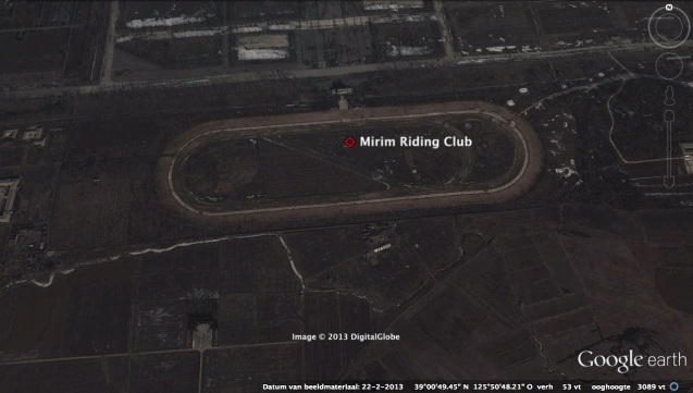 The Mirim Riding Club in east Pyongyang.  Formerly the equestrian company of KPA Unit #534, DPRK leader ordered the ownership of the equestrian facility to be transferred from the KPA to the DPRK Cabinet and State Commission of Physical Culture and Sports in November 2012.  Kim Jong Un later visited the equestrian club's renovation work in May 2013 and expressed his displeasure with the new design of the place (Photo: Google image)