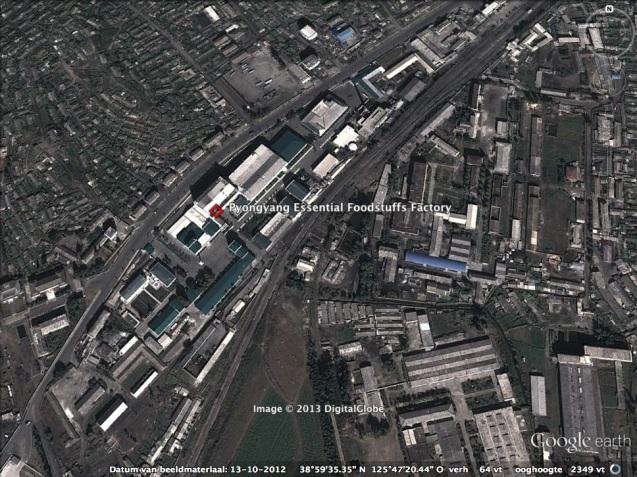 The Pyongyang Essential Foodstuffs Factory in east Pyongyang (Photo: Google image).