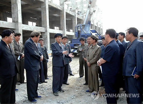 DPRK Cabinet Premier Pak Pong Ju (3rd L) visits an industrial site in Tanch'o'n, South Hamgyo'ng Province (Photo: KCNA-Yonhap).