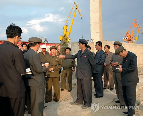DPRK Cabinet Premier Pak Pong Ju tours an industrial site in South Hamgyo'ng Province (Photo: KCNA-Yonhap).