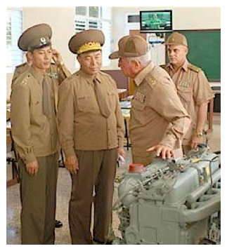 Former Chief of the KPA General Staff VMAR Ri Yong Ho (2nd L) tours a Cuban defense industry site on 3 November 2010 (Photo: NKLW File Photos).