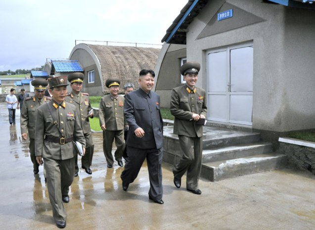 Kim Jong Un tours a mushroom farm recently constructed by a unit subordinate to KPA Unit #534 (Photo: Rodong Sinmun).