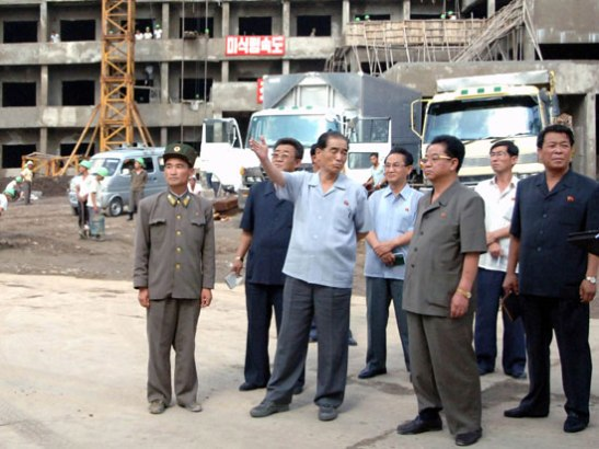 DPRK Premier Pak Pong Ju (3rd L) tours the construction of a children's hospital and dental hospital (Photo: Rodong Sinmun).