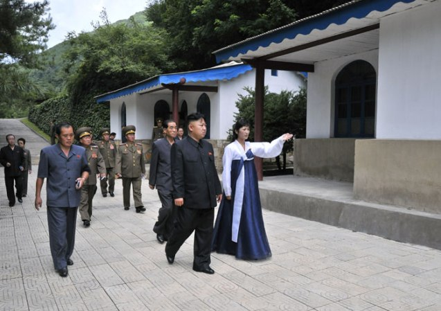 Kim Jong Un tours th Songhung Revolutionary Site, headquarters of the command element of the Chinese People's Volunteers during the Korean War (Photo: Rodong Sinmun).