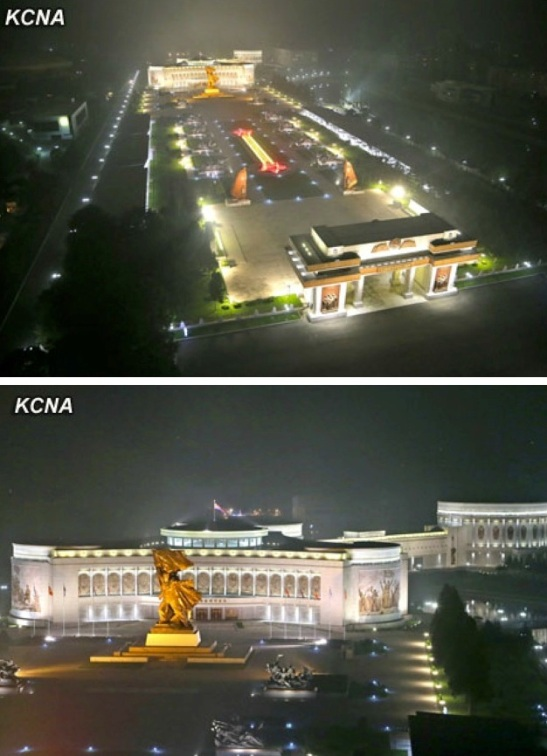 View of the exterior of the Victorious Fatherland Liberation War Museum and memorial tower in Pyongyang (Photos: KCNA)
