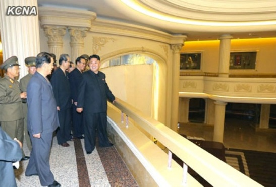 Kim Jong Un and senior party and government officials tours the renovated Victorious Fatherland Liberation War Museum in Pyongyang (Photo: KCNA)
