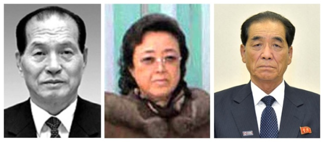 Current director of the KWP Finance and Planning Department Kwak Pom Gi (L), KWP Secretary and department director Kim Kyong Hui (C) and current DPRK Premier Pak Pong Ju (R).  From 1993 to 1997 Pak served as Madame Kim's principal deputy when three KWP Central Committee economic departments were consolidated.  This consolidation may serve as the model for the recently established Department of Economy (Photos: KCNA/Rodong Sinmun).