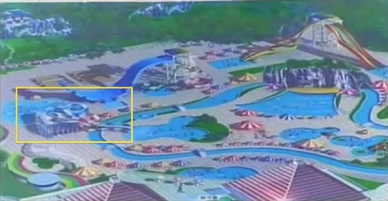 A water slide in the design for the Munsu Wading Pool (Photo: KCTV/KCNA screengrab).