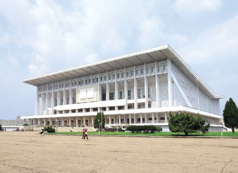 Pyongyang Indoor Stadium in central Pyongyang (Photo: Rodong Sinmun).