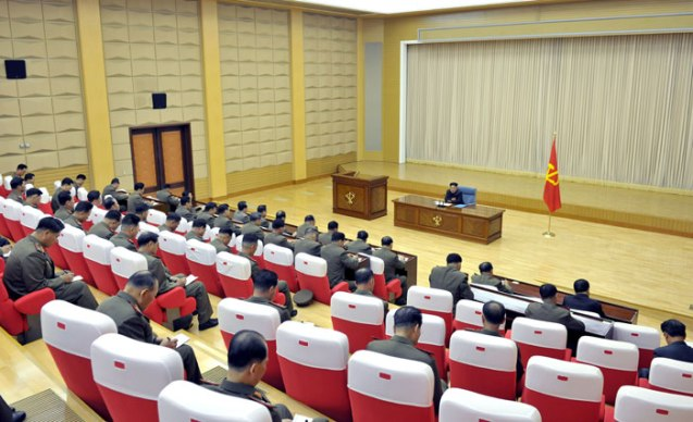 Overview of the expanded Party Central Military Commission meeting in August 2013 (Photo: Rodong Sinmun).