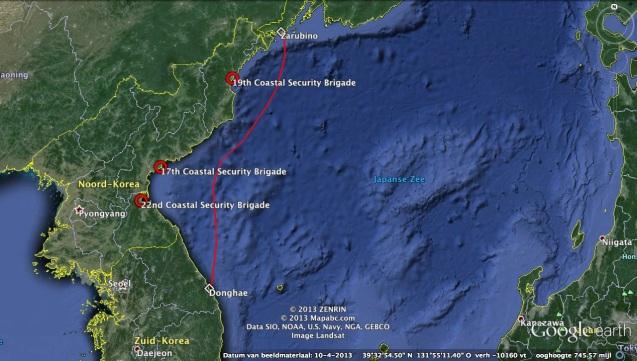 The headquarters of the three Coastal Defense Bureau units stationed on the East Sea (Sea of Japan) (Photo: Google image).