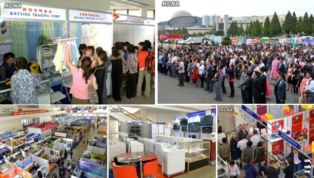 Images of the opening day of the 9th Pyongyang Autumn International Trade Fair at the Three Revolutions Exhibition on 23 September 2013 (Photos: KCNA).