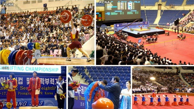 The 2013 Asian Cup and Interclub Junior and Senior Weightlifting Championship was held at Ryugyo'ng Jong Ju Yong Indoor Stadium  in Pyongyang from 12 to 17 September 2013 (Photos: KCNA).