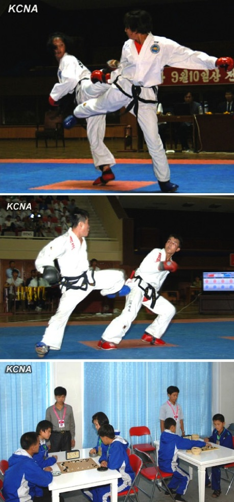 The 8th National Martial Arts Championships were held at Taekwondo Hall in Pyongyang from 12 to 18 September 2013 (Photos: KCNA).
