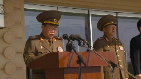 VMar Choe Ryong Hae, Director of the KPA General Political Department, speaks at a ceremony opening the Mirim Riding Club in east Pyongyang on 25 October 2013 (Photo: KCNA screen grab).