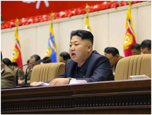 Kim Jong Un speaks during the 4th Meeting of KPA Company Commanders and Political Instructors held in Pyongyang on 22 and 23 October 2013 (Photo: Rodong Sinmun).