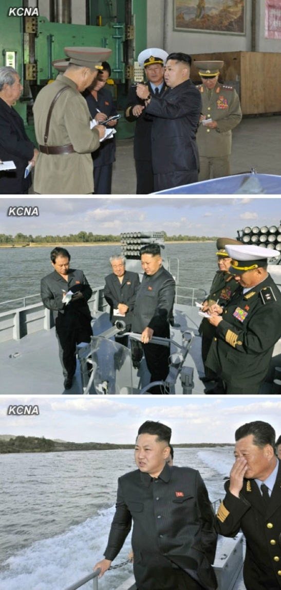 Kim Jong Un inspects newly constructed warships of the KPA Navy (Photos: KCNA).