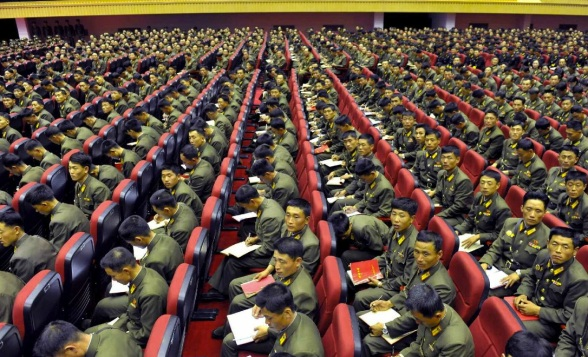 View of attendees and participants in a shooting competition of KPA company commanders and political instructors (Photo: Rodong Sinmun).