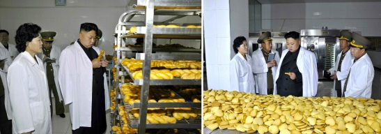 Kim Jong Un inspects KPA Foodstuffs Factory #354 (Photo: Rodong Sinmun).