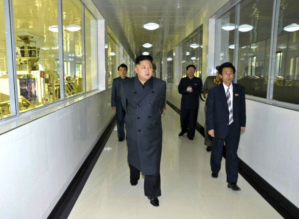 Kim Jong Un tours the 2 November Factory, a food manufacturer under the KPA (Photo: Rodong Sinmun).