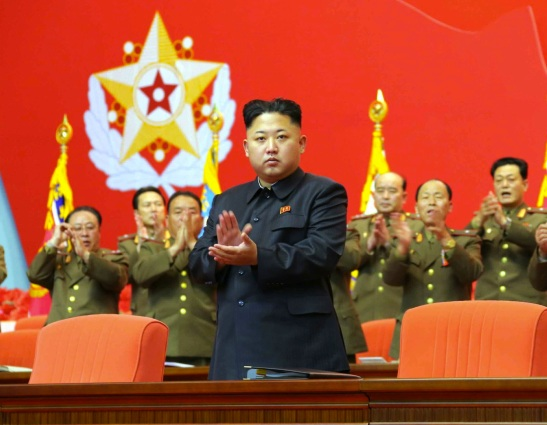 Kim Jong Un applauds during the 2nd National Security Personnel Meeting  (Photo: Rodong Sinmun).