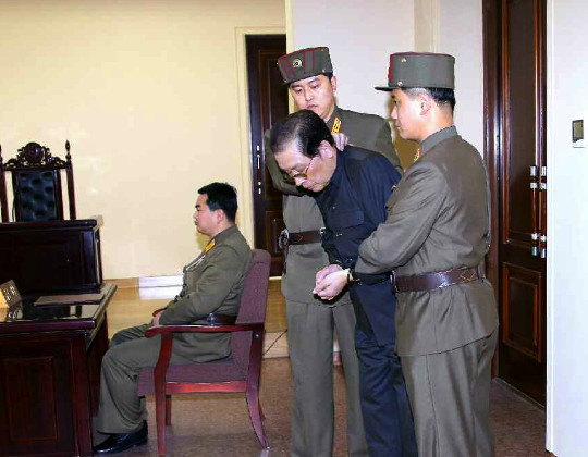 Jang Song Taek appears before a tribunal of the Ministry of State Security on 12 December 2013 (Photo: Rodong Sinmun)