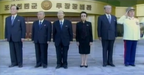 Jang (R) was husband of Kim Kyong Hui (3rd R), KWP Secretary and sister of late DPRK leader Kim Jong Il (Photo: KCTV screen grab).