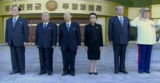 Jang (R) was husband of Kim Kyong Hui (3rd R), KWP Secretary and sister of late DPRK leader Kim Jong Il (Photo: KCTV screen grab).