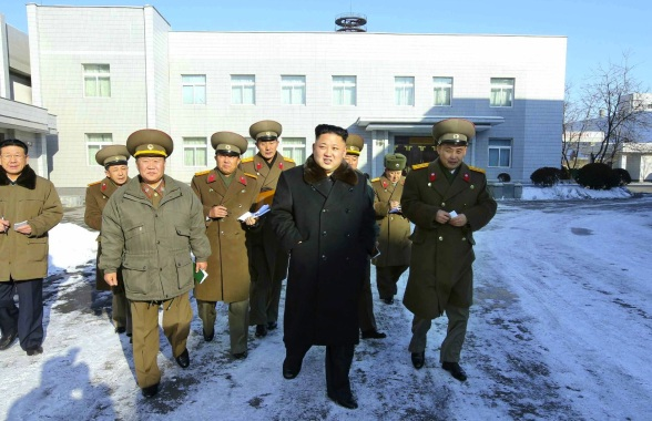 Kim Jong Un visits the KPA Design Institute (Photo: Rodong Sinmun).