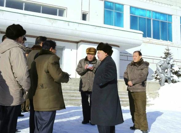 Kim Jong Un tours Samjiyo'n County, Ryanggang Province (Photo: Rodong Sinmun).