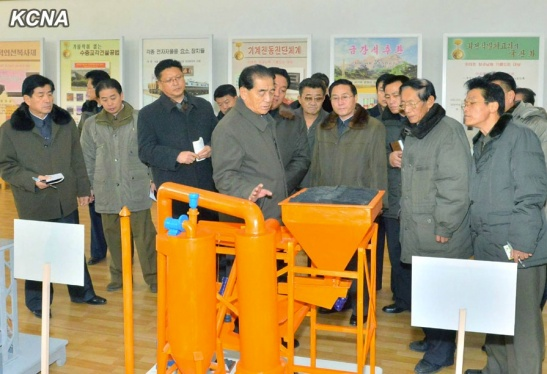 DPRK Premier Pak Pong Ju visits the State Academy of Science (Photo: KCNA).