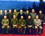 Kim Chang Son (orange arrow) and Jang Song Taek (red arrow) poses for a commemorative photo with late DPRK leader Kim Jong Il on 24 December 1991, hours after KJI was elected KPA Supreme Commander.