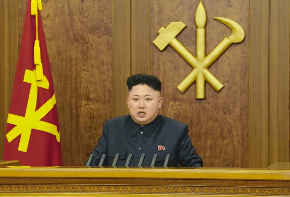 Kim Jong Un delivers the 2014 New Year's Address (Photo: Rodong Sinmun).