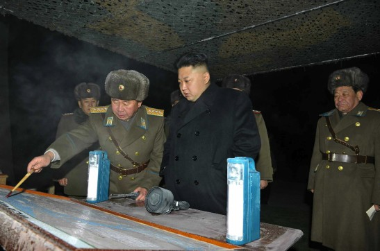 Kim Jong Un is briefed on exercises by KPA Unit #323. (Photo: Rodong Sinmun).