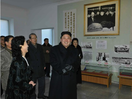 Kim Jong Un visits a revolutionary history  exhibition at the State Academy of Sciences (Photo: NKLW file photo).