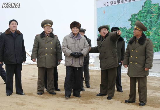 DPRK Premier Pak Pong Ju (3rd L) tours the Sep'o animal husbandry and grazing lands in Kangwo'n Province (Photo: KCNA).
