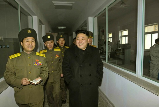 Kim Jong Un tours the Sport Bullet factory (Photo: Rodong Sinmun).