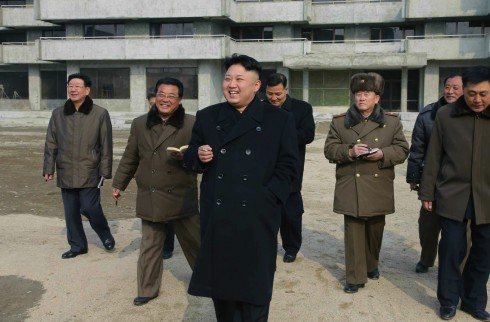 Kim Jong Un smokes a cigarette whilst touring Songdowon International Children's Camp (Photo: Rodong Sinmun).