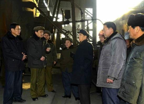 DPRK Premier Pak Pong Ju (3rd R) tours Hwanghae Iron and Steel Complex (Photo: Rodong Sinmun).