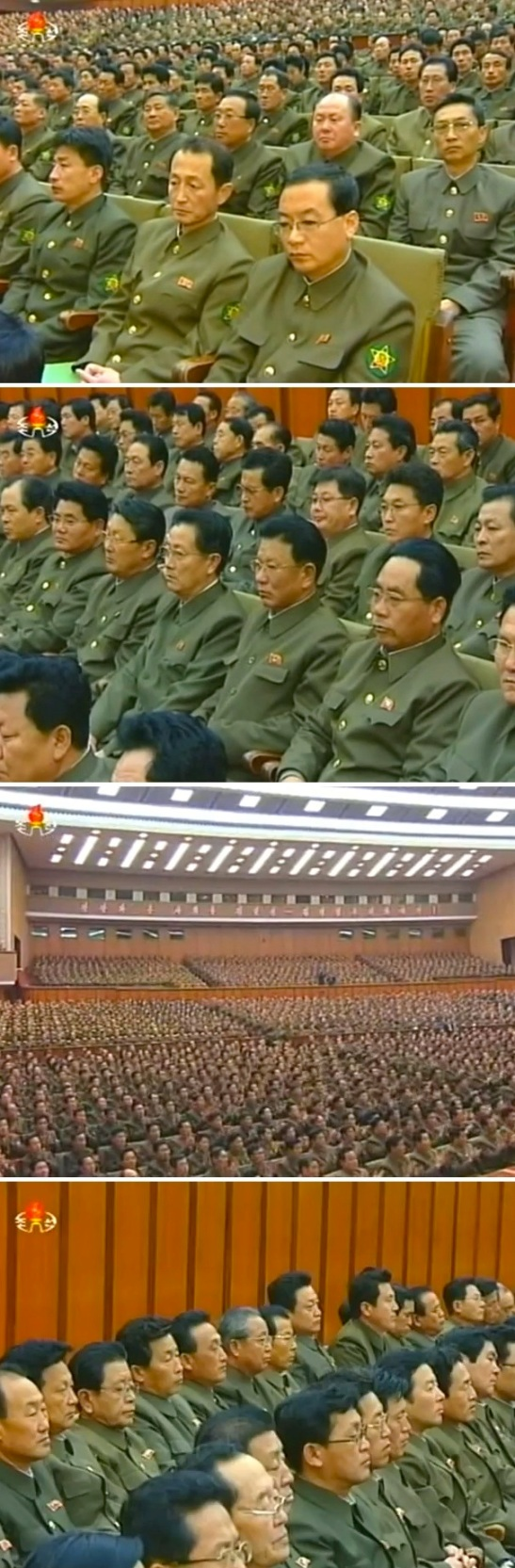 View of participants at a meeting of active leading personnel of the Worker-Peasant Red Guard (Photo: KCTV screen grab).