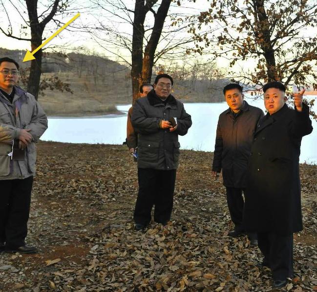 Pak Tae Song attends a KJU visit to a lake near Anju, South P'yo'ngan Province in January 2014 (Photo: NK Leadership Watch file photo).