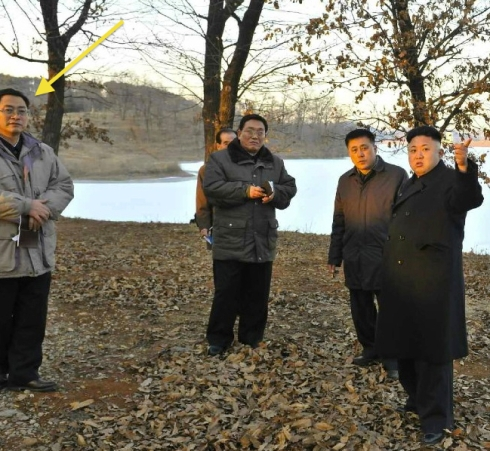 Pak Tae Song attends a KJU visit to a lake near Anju, South P'yo'ngan Province in January 2014 (Photo: NK Leadership Watch file photo).