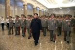 Kim Jong Un visits the Ku'msusan Palace of the Sun at midnight on 8 July 2014 to commemorate the 20th anniversary of the death of his grandfather, late DPRK President and founder Kim Il-so'ng (Photo: Rodong Sinmun).